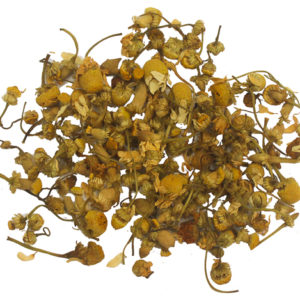 An image of Loose leaves of cinnamon ginger chamomile blend