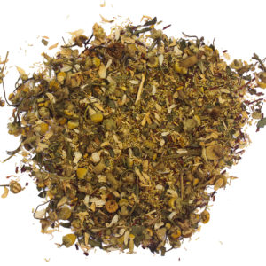 Loose leaf vanilla chamomile tea by Hemp Kettle Tea