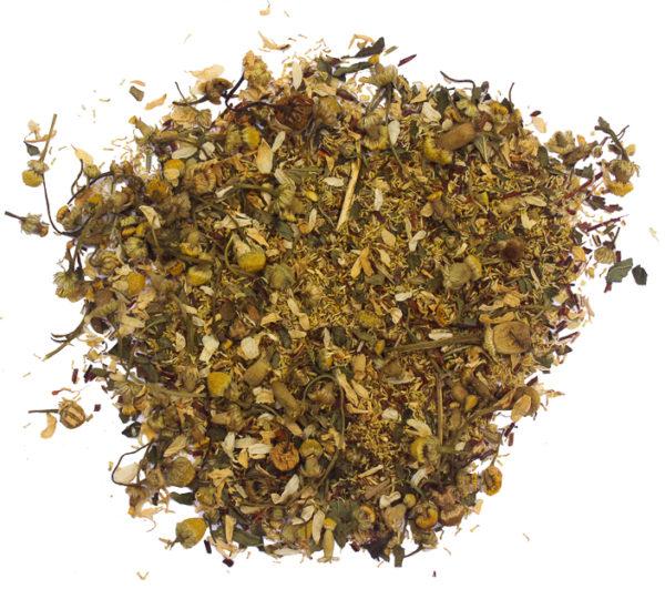 Loose leaf vanilla chamomile tea by Hemp Kettle Tea